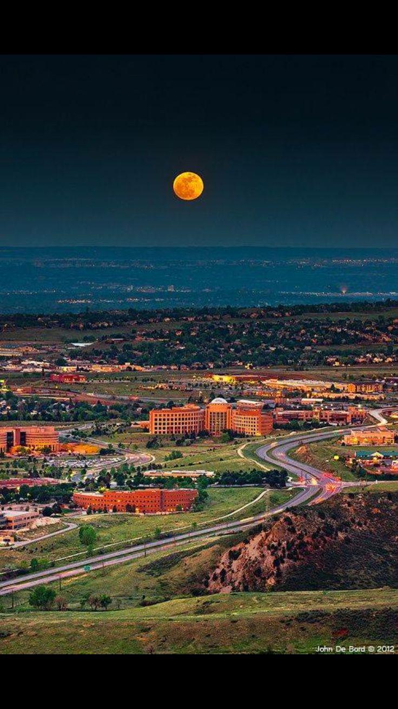 Full moon over Arvada, Colorado