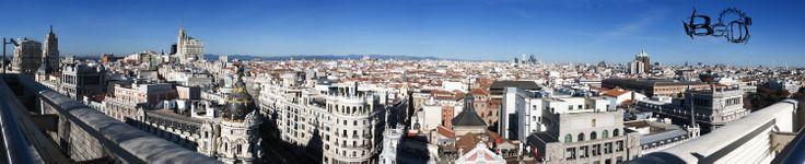 Panoramica desde Circulo de Bellas Artes #Madrid
