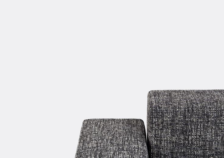 The Refolo sofa by Charlotte Perriand in Kvadrat/Raf Simons textiles from the 2014 collection.  Photo by Anne Collier.
