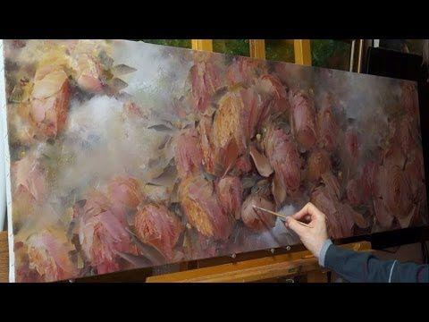 """""""Цветы"""". Олег Буйко. Живопись маслом. Process of creating oil painting. - YouTube"""