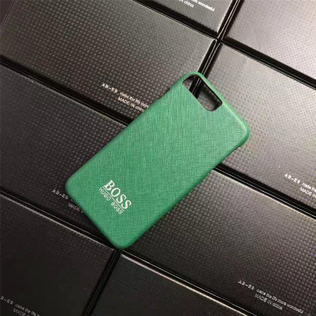 HOGO BOSSボス 革製iPhone8/7s/7/7plusケースブランドアイフォン6s/7携帯カバー