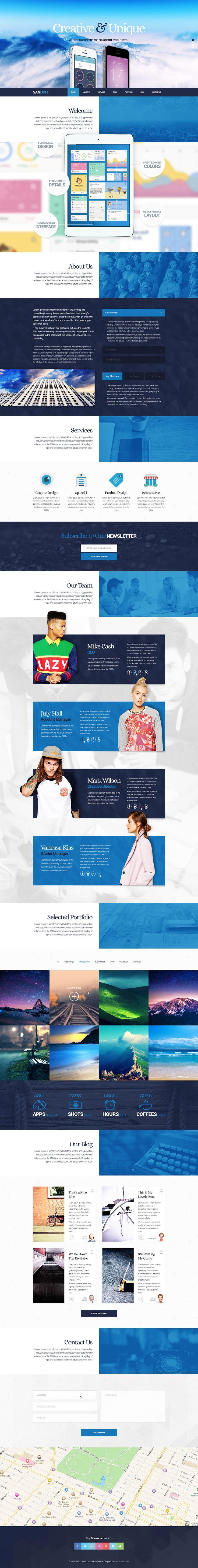 SANDOR Creative Portfolio WordPress Theme on Behance
