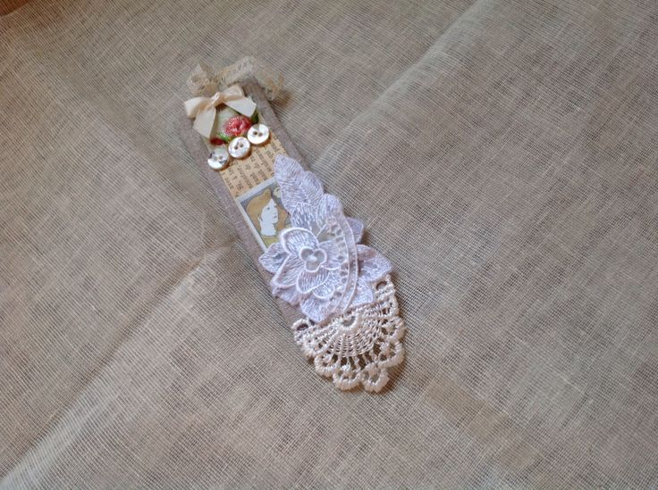 Shabby chic book mark. Kay Horne
