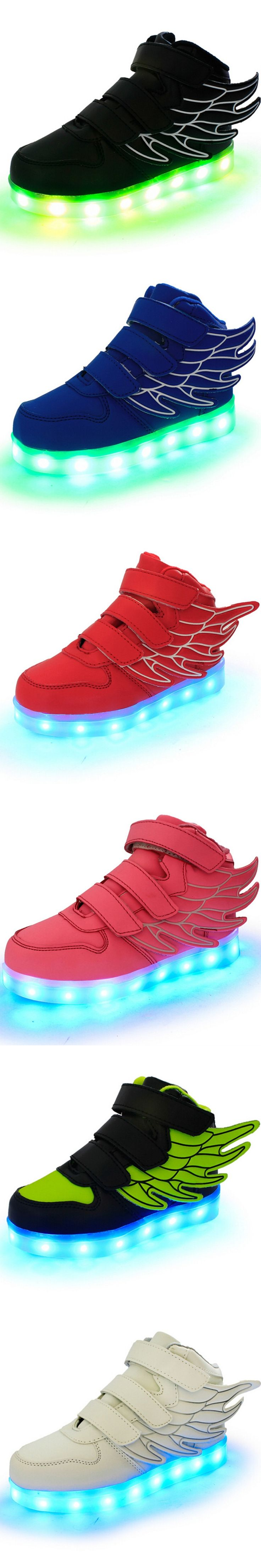 2016 Led Schoenen Kids Basket Chaussure Lumineuse Enfant Garcon Casual Boys Lighting Girls Fille Children Shoes With Light Up