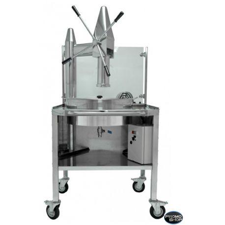 #Appareil à #churros sur #roulettes - Capacité de la #friteuse #électrique 14 L Cette #friteuse #électrique vous permettra de faire de succulents #chichis. Fabrication #espagnole. Idéale pour la #vente #ambulante ou une #vente complémentaire pour un #glacier, #boulanger, #snack etc.