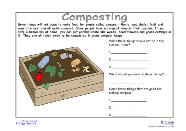 Album of composting worksheets diagrams word games
