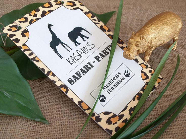 Roaarr – Jetzt wird's wild! Safari-Einladung. decorize.de