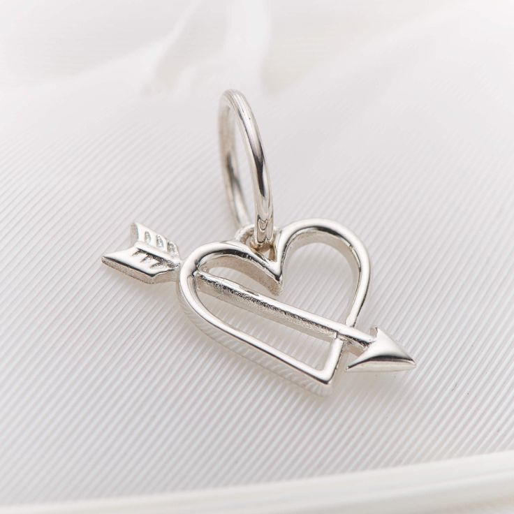 Heart and arrow charm #3664 available in stores and online now https://palasjewellery.com.au/stockist-australia/ #palasjewellery #love #moonandback