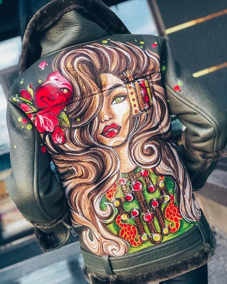 Крутые картинки для росписи на одежде