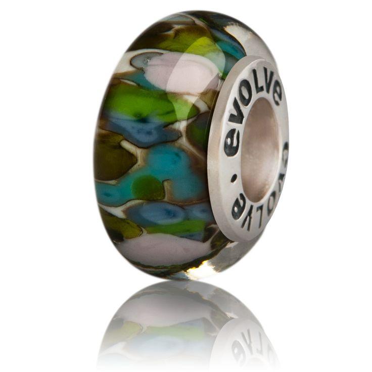 fiordland evolve murano glass charm