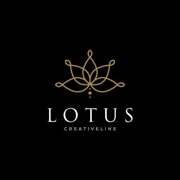 Line Art Lotus Logo Designs. Logo For Beauty Spa Salon