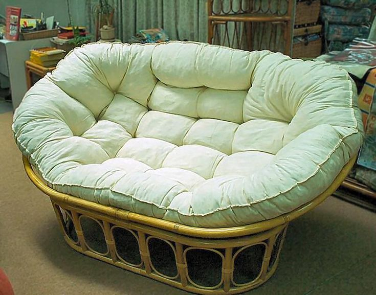 Mamasan - double papasan... just bought on of these for the computer/media room, however the cushion doesn't look near as comfy as this one