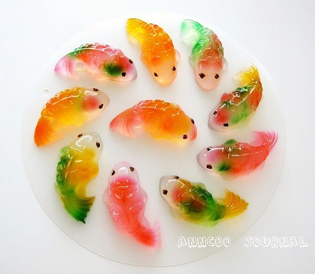 I hate gummies, but these are pretty amazing! Gummi Koi Fish for Chinese New…