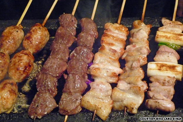 Bird Land (Tokyo, Japan) - voted one of the best yakitori restaurants in Japan.  Meat on a stick... what's not to love?