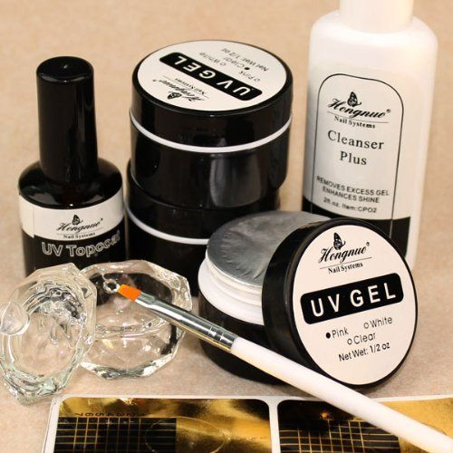 Vip Beauty Shop Starter Manicure Uv Gel Kit with Cleanser Plus Brush Nail Forms Top Coat Full Set with Duck Nail Tips *** This is an Amazon Affiliate link. You can get more details by clicking on the image.