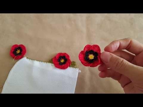 Gelincik Çiçeği Oya Modeli Yapımı - YouTube