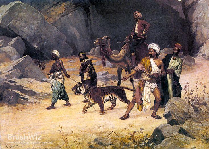 The Tiger Hunt by Rudolf Ernst - Oil Painting Reproduction - BrushWiz.com