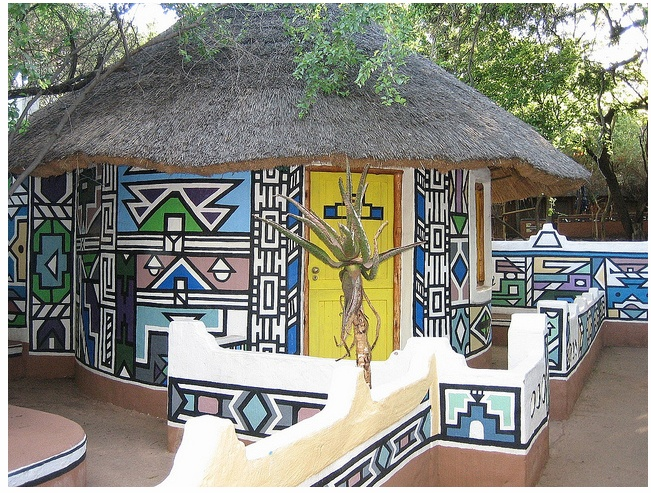 The beauty at Ndebele Village--->