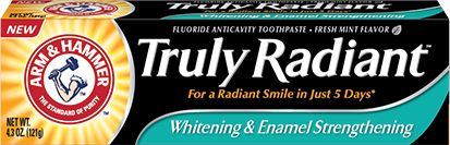 Save 50 cents On any ARM & HAMMER(TM) Truly Radiant(TM) toothpaste.