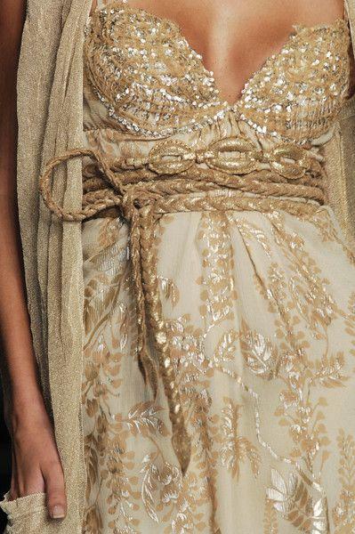 Gold details on a dress