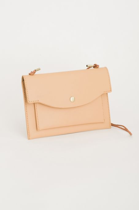 Two Pocket Envelope Bag, Beige