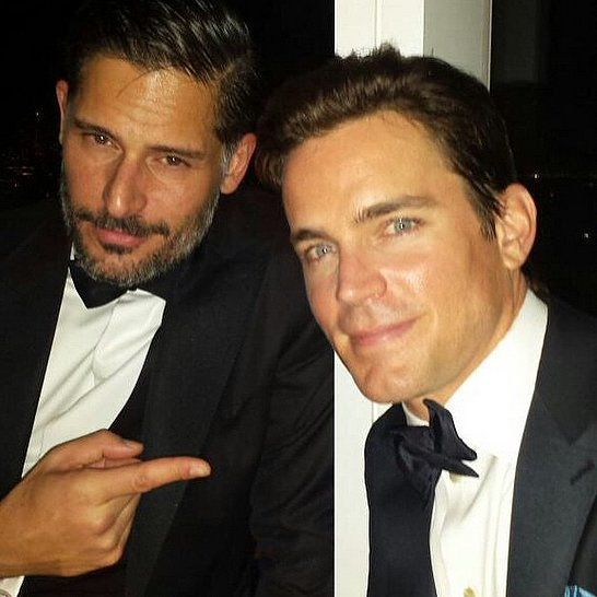 "There was a Magic Mike moment at the Met Gala! Joe Manganiello and Matt Bomer joked that they wore ""tear-away tuxes"" to the big event."