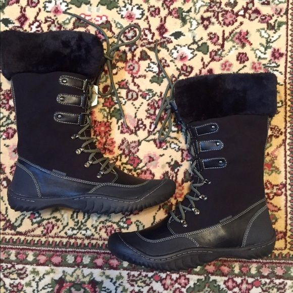 💕NWT J-41 Winter Boots💕 Gorgeous boots! Never been worn. Perfect for the winter months. All black with faux fur lining. Super comfortable and stylish. Jeep Shoes Winter & Rain Boots