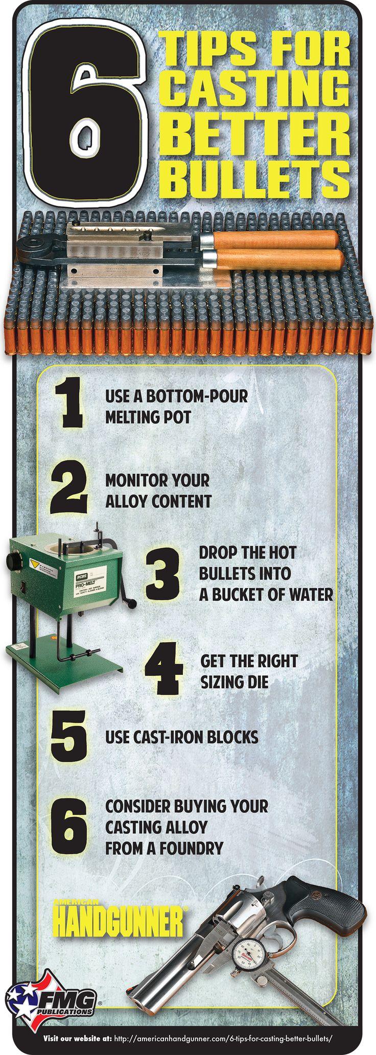 6 Tips For Casting Better Bullets   American Handgunner   Click here to read: http://americanhandgunner.com/6-tips-for-casting-better-bullets/   #american #handgunner #handloading #casting #bullets #ammunition