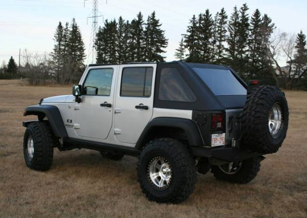 OFFROADHEROES - Frameless Soft Tops for Jeeps -This is a multi functional top that converts into a Fastback, Cargo Top, Summer Combo by simply switching out the back sections. All hardware included, nothing more to buy. Made of the same heavy duty Chrysler Jeep Topping-