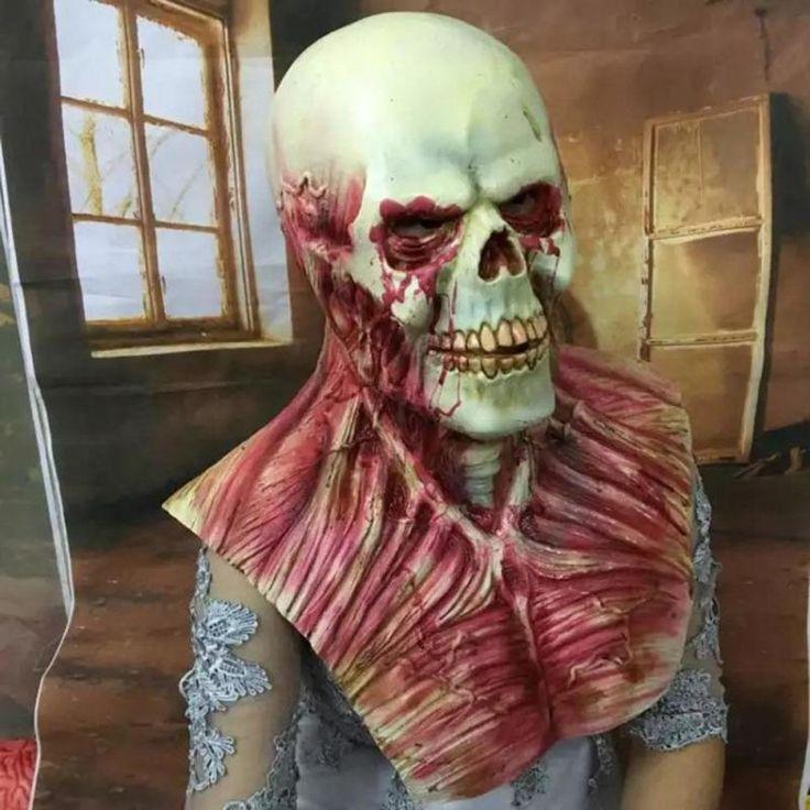 Scary Devil Zombie Mask Halloween #fashion #gothgirl #jewellery #accessories #necklace #women #womensfashion #style #blacklove #skull #women #menswear #stylish