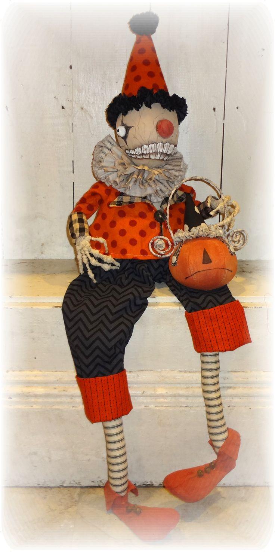 Halloween Clown Skelleton from The Pixie's Thimble