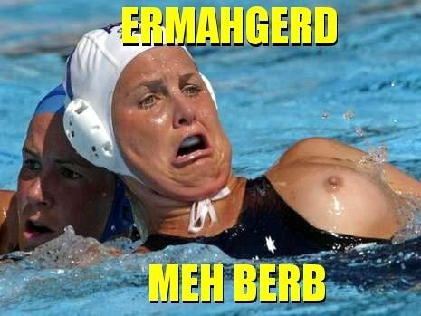 Agree! There's water polo boob slip woman