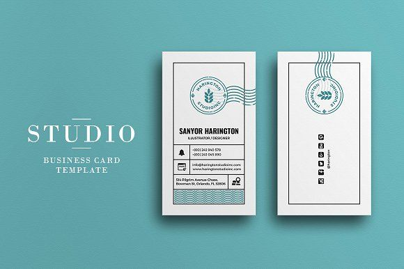 Studio Business Card by Graphicsegg on @creativemarket
