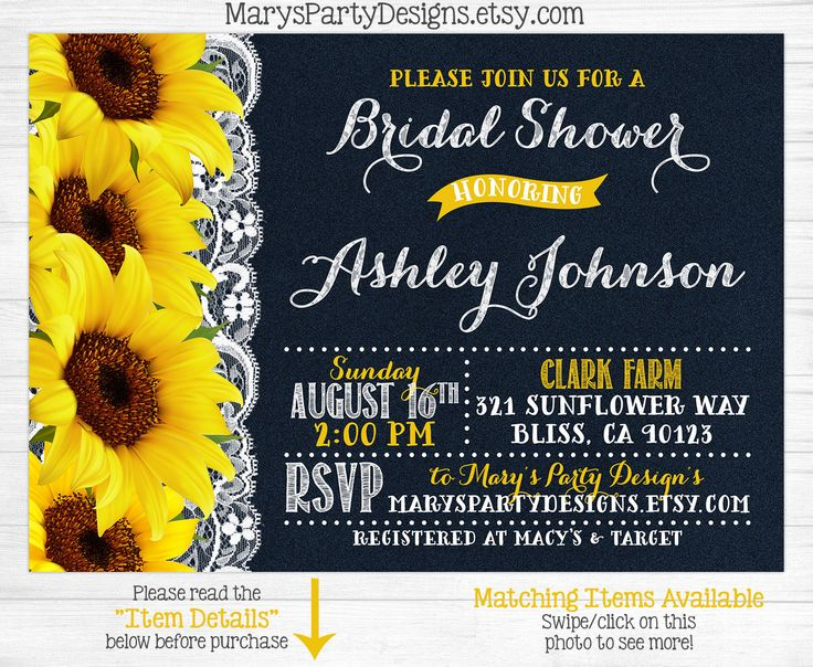 Cheap Sunflower Wedding Invitations: 10+ Ideas About Sunflower Bridal Showers On Pinterest