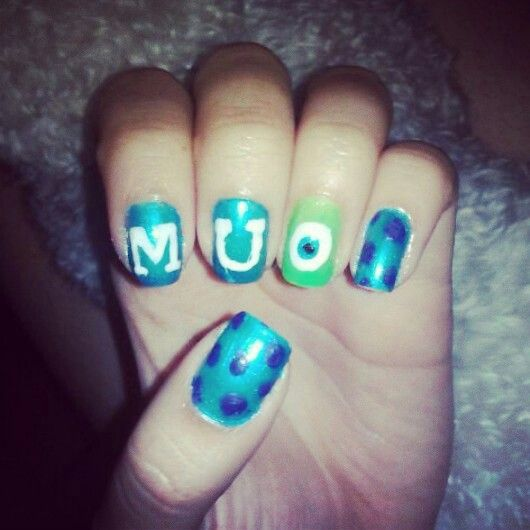 Monsters University nails =D