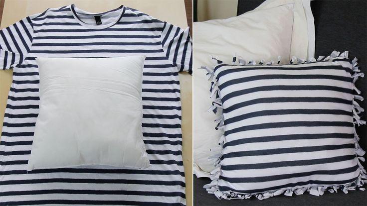 3 ideas para reciclar una camiseta sin coser #DIY