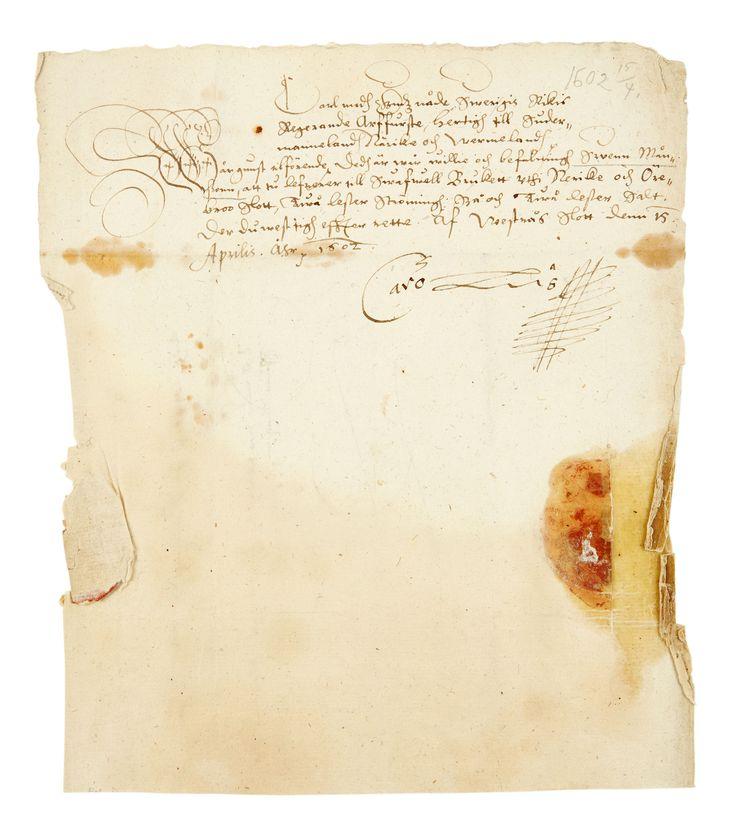 6255. Handling undertecknad Karl IX