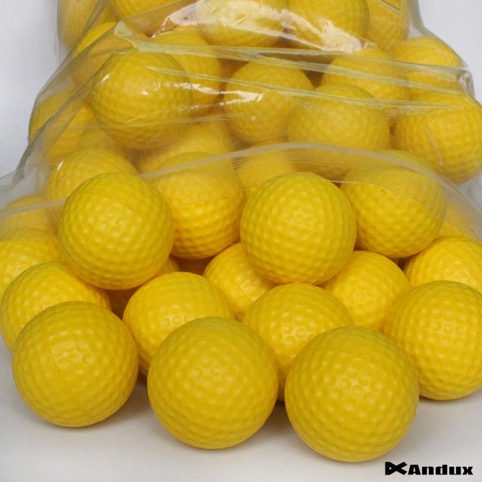 Andux 36 Golf Soft light PU Foam Practice Ball Balls Yellow|A0000794| #GolfPracticeBall