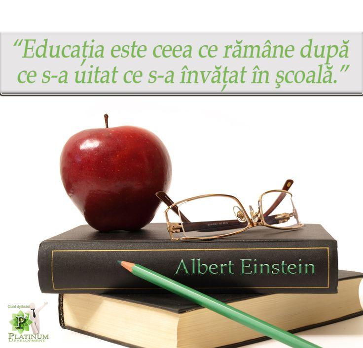 Educatia – Albert Einstein