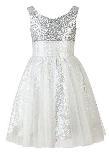 LuckyHouses Sequin Tulle Flower Girl Dress Junior Bridesmaid Dress Kids Formal Dress (2, Silver) LuckyHouses http://www.amazon.com/dp/B017NL1CO6/ref=cm_sw_r_pi_dp_izxSwb1EGKF5N