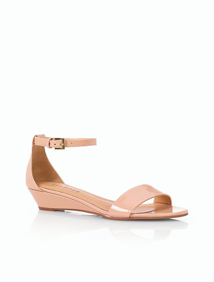 Camilla Patent Leather Ankle-Strap Wedge Sandals
