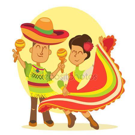 Bailes a mexicanos en trajes nacionales