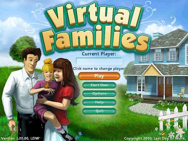 Virtual Familiesis a casual family sim that runs in true-real time. Adopt and nurture a needy person in the computer. Help them meet a mate, and start a family. Pass on the house to the next generations.    Download and play Virtual Families game at aw For great tips on the best sims online check out www.flightsimulatoronlinegame.com