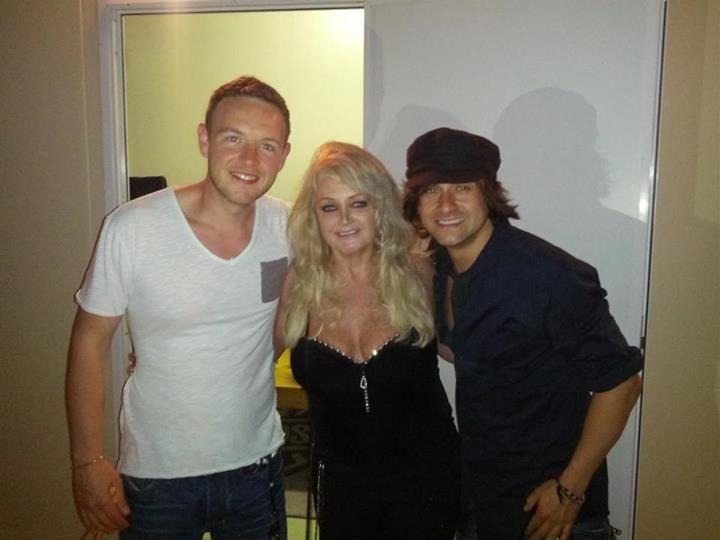 Bonnie Tyler & Ben Stone & Timothy Howar #bonnietyler #gaynorsullivan #gaynorhopkins #thequeenbonnietyler #therockingqueen #rockingqueen #music #rock #2013 #concert #rome #harleydavidson #benstone #timothyhowar