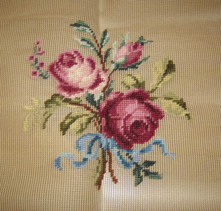 Vintage Needlepoint Canvas Bucilla Antique Canvas #Bucilla