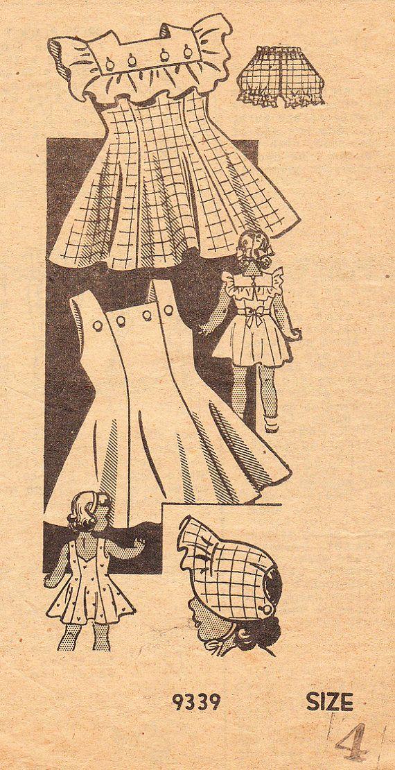 Vintage 1940's Sundress or Sunback Dress with by daisyepochvintage, $14.00