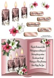 Beautiful Pink Candles Open Book on Craftsuprint - View Now!