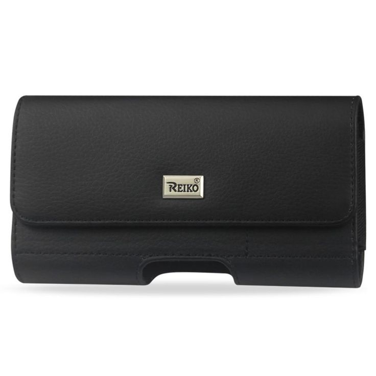 Reiko Horizontal Leather Pouch Samsung Galaxy S5 Slim-Black With Card Holder Inner Size-5.74X3X0.47Inch