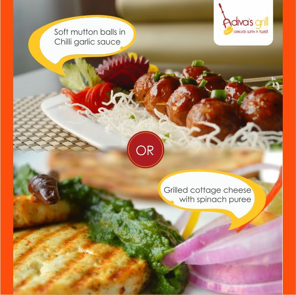 Veg v/s Non-Veg- which side are you on? Either way, your taste buds will win. Visit Adiva's Grill, NOW!
