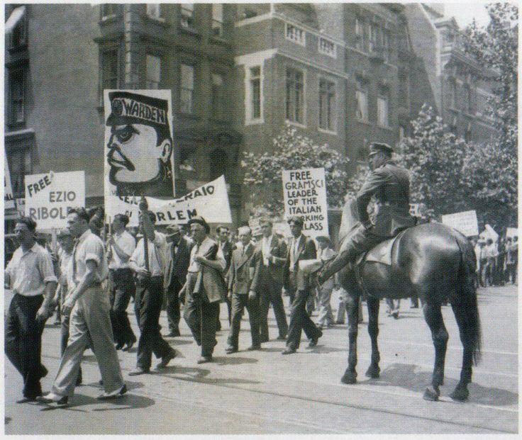 MANIFESTAZIONE ANTIFASCISTA A NEW YORK, 1933